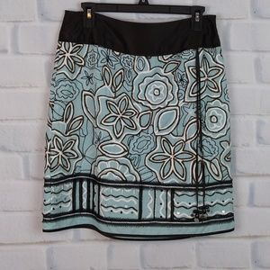 Etcetera turquoise & brown skirt